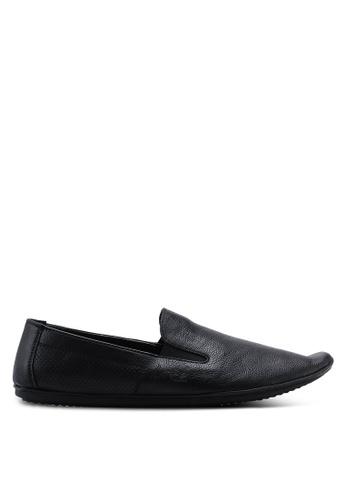 Louis Cuppers black Pebbled Slip Ons 20487SH0FED50BGS_1