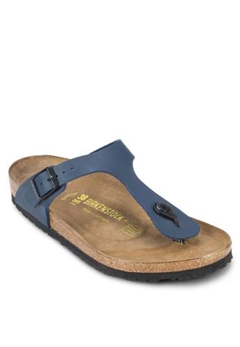 Birkenstock blue Gizeh Birko-Flor Sandals BI090SH58HNLMY_1