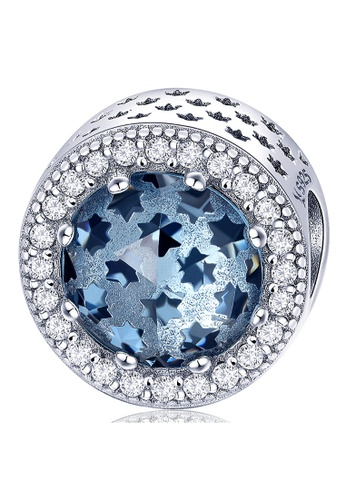 925 Signature silver 925 SIGNATURE Solid 925 Sterling Silver Sky Blue Mystic Stars CZ Charm 78294ACA74D678GS_1