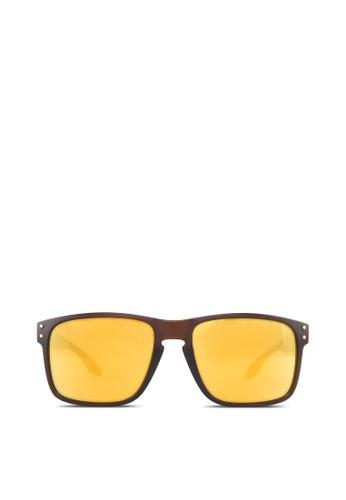 Oakley brown Holbrook OO9244 Sunglasses OA371GL42YFTSG_1