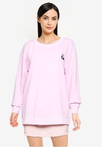 ONLY purple Ani Sweatshirt 247A0AA7897BE1GS_1