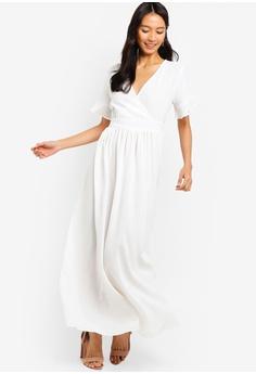 67b009121c48 ZALORA white Wrap Maxi Dress 815CDAAF3A13C2GS 1