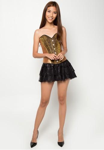 Image result for metallic corset