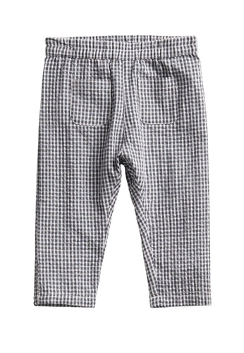 MANGO BABY grey Gingham Cotton Trousers C8BD0KA9287153GS_1