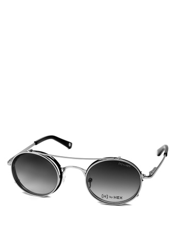 HEX EYEWEAR black and silver Journalist - Joseph P. - Optical with Clip-on - Italy Design HE671AC2V1KUHK_1