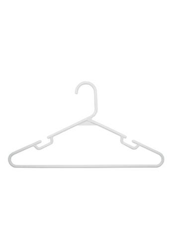 MakeRoom white Set Of 12 Plastic Hangers 0E72AHLB3BFB84GS_1