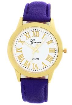 Fashion Geneva 008 - Jam Tangan Wanita - Gold Biru