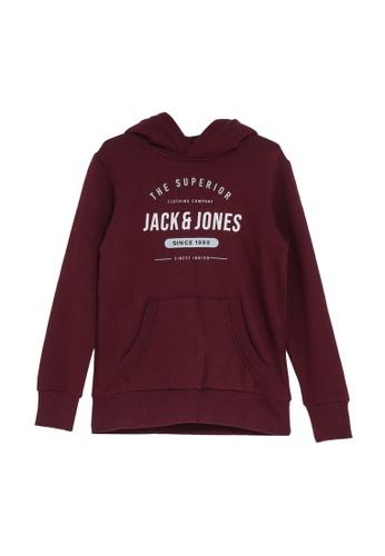 Jack & Jones red Boys Kangaroo Pocket Hoodie BEA68KA48E9AA6GS_1