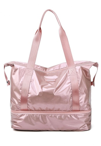 Twenty Eight Shoes pink VANSA Simple Oxford Travel Tote Bag VBW-Tb9B32L 1EEE0AC83D545CGS_1