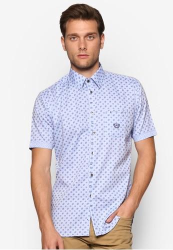 印esprit retail花亞麻短袖襯衫, 服飾, 印花襯衫