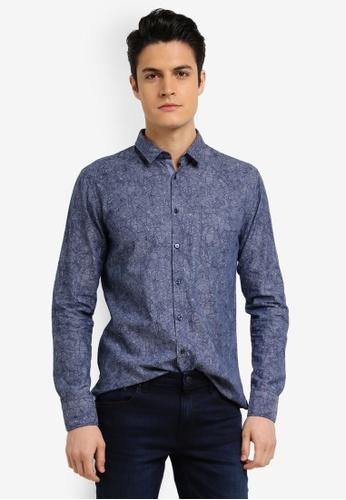 BOSS blue Cattitude Shirt - Boss Casual 8B57BAA9C1DF5AGS_1