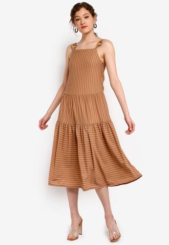 b895508bc4c724 Buy TOPSHOP Stripe Midi Dress Online on ZALORA Singapore