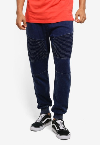 Cotton On navy Moto Track Joggers 7D051AA7D58E2CGS_1