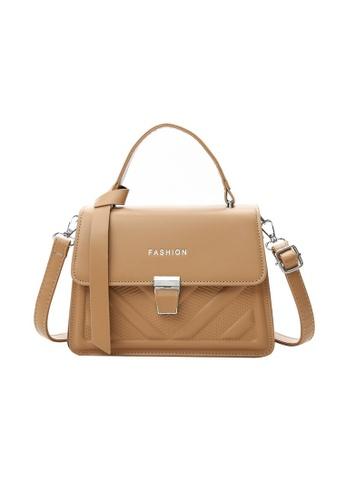 Lara brown Women's Magnetic Closure Flap Shoulder Bag Handbag - Brown B3767AC19B3BA0GS_1