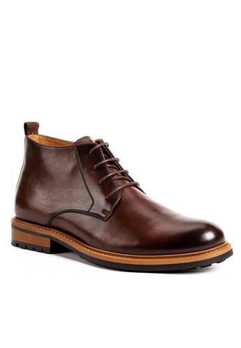 Twenty Eight Shoes Vintage Amber Leather Brogue Boot G03-8 56F94SHC142CA6GS_1
