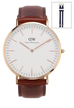 85dd29305f66 Daniel Wellington Combo St Mawes 40mm Watch + Glasgow strap RM 1