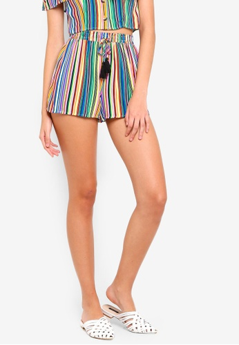 Supre multi Melrose Tie Front Shorts 39DF9AA78A1D4FGS_1