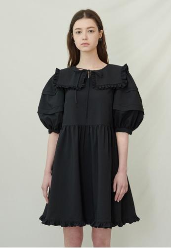 TAV [Korean Designer Brand] Jubilee Dress - Black 026F6AAE39DEE7GS_1