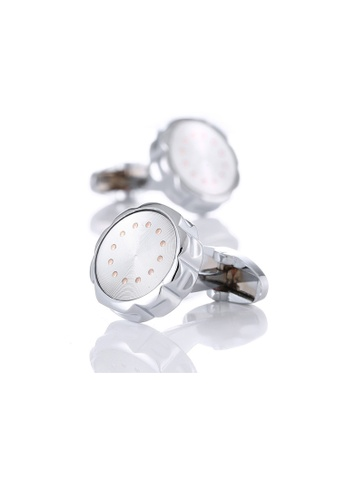 Kings Collection Silver Fashion Cufflinks (KC10060a) BCCE4AC69EDD49GS_1