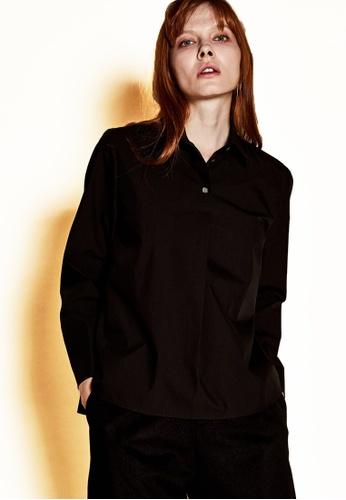 The K Story black Three Button Shirts' Blouse 76195AACF5B51BGS_1
