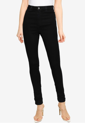 MISSGUIDED black Tall Vice Skinny Jeans With Belt Loops C52C2AA3DD181EGS_1