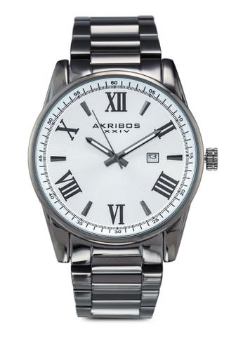 Akribos XXIV grey Date Stainless Steel Watch 64947AC83430FCGS_1