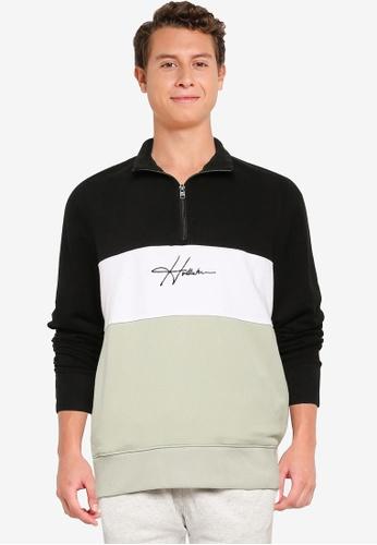 Hollister black Blocking Zips Sweatshirt 7C2D2AAB057BA0GS_1