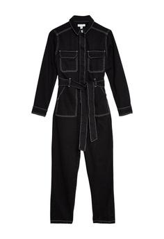 fbd7b50a0bad TOPSHOP Black Denim Boilersuit RM 379.00. Sizes 6 8 10 12 · ZALORA green  Tie Details Jumpsuit 08C35AA2DEC512GS 1