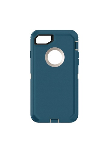 MobileHub blue iPhone 7 Extreme Hybrid Shockproof Case FREE Belt Clip Holster A462EAC9921E0CGS_1