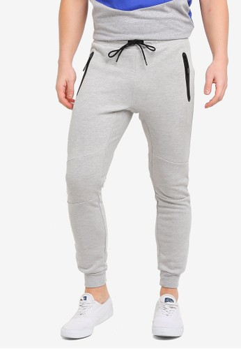 Factorie grey Tech Track Pants B7B45AAB3ECC38GS_1