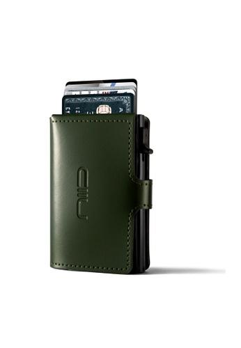 NIID green Anti Scratch ‧RFID‧Automatic Leather Mini Wallet - Green 8E20FAC263E01EGS_1