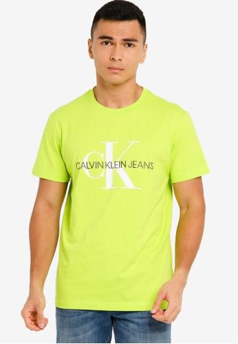 CALVIN KLEIN green Monogram Embroidery Tee - Calvin Klein Jeans 4FFC5AA0FC116FGS_1