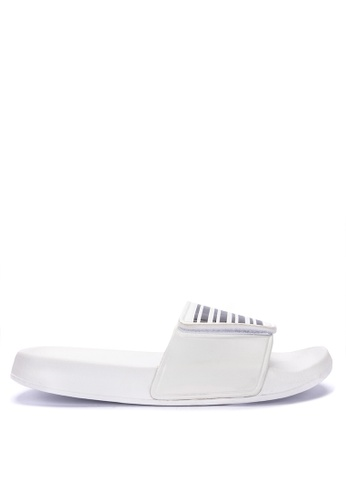 Penshoppe white Sliders With Velcro 11EE3SHC762FFEGS_1