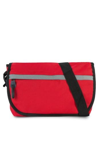 拼zalora退貨色翻蓋斜背包, 包, 飾品配件