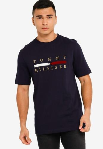Tommy Hilfiger navy Wcc Icon Bar Tee 034B8AA9455C08GS_1