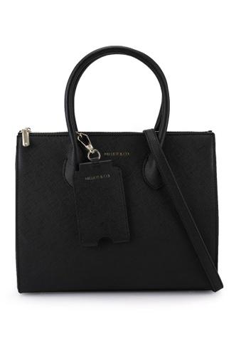 Milliot & Co. black Sebastiane Top Handle Bag 1DA66ACBF8C4D9GS_1