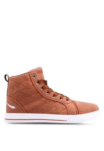 Rocklander brown Matarazo Hi-Top Sneakers 7E3B8SH63C9861GS_1