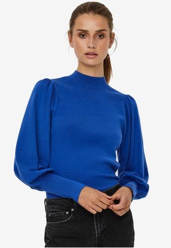 Vero Moda blue Karis Puff High Neck Blouse A163CAA343C2CFGS_1