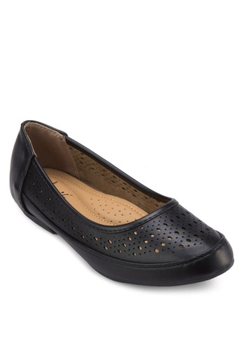 雕花娃娃鞋,zalora 台灣 女鞋, 芭蕾平底鞋