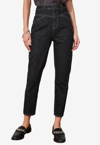 Trendyol black High Waist Mom Jeans 7EEF5AA491B3FBGS_1