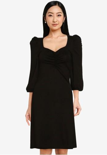 ONLY black Meya 3/4 Short Dress 181CAAA6C73EDFGS_1