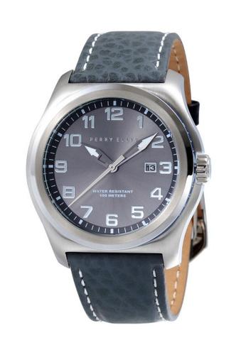 PERRY ELLIS black and silver Perry Ellis Memphis Men 44mm Quartz Watch 04010-01 8EB0CAC4B27DF5GS_1