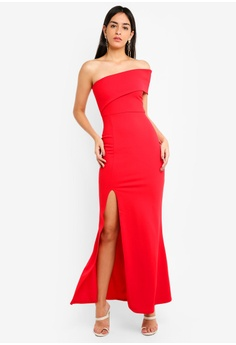58ce5dec5a MISSGUIDED red One Shoulder Maxi Dress 57B87AAF18CF25GS 1