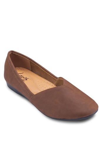 Vivy 仿麂皮平底鞋,esprit鞋子 女鞋, 芭蕾平底鞋