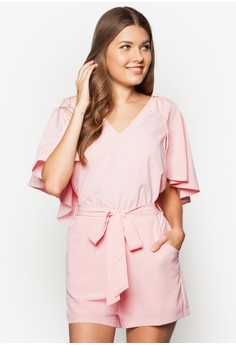 Love Cape Drapey Playsuit