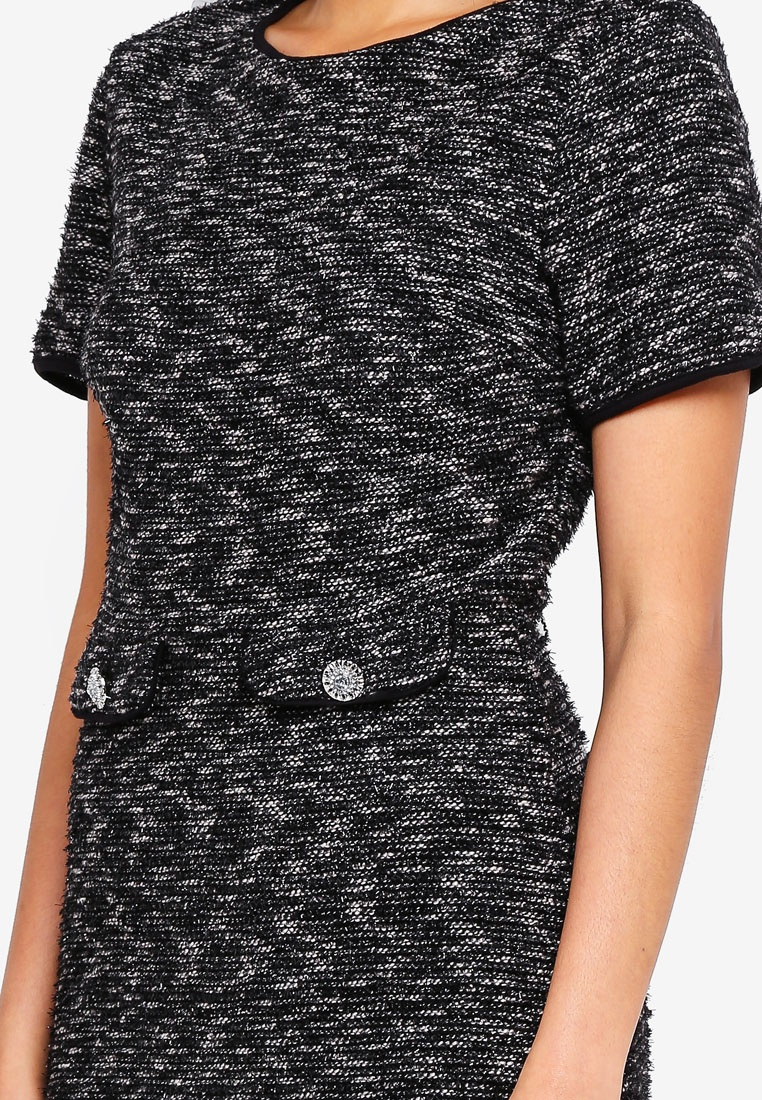Perkins Grey Grey Lurex Dress Shift Dorothy wXxZq8xI
