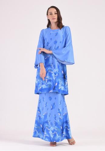 Rania Adeeba Baju Kurung Azeeza Blue from rania adeeba in Blue