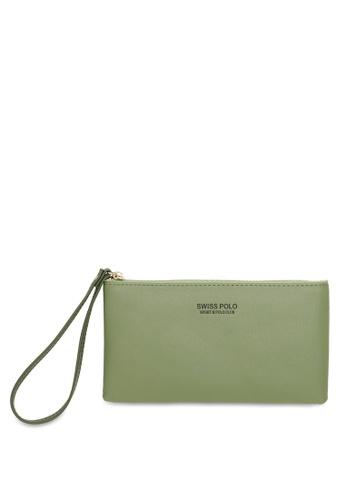 Swiss Polo 綠色 Zip Pouch 93893AC0E9BB73GS_1