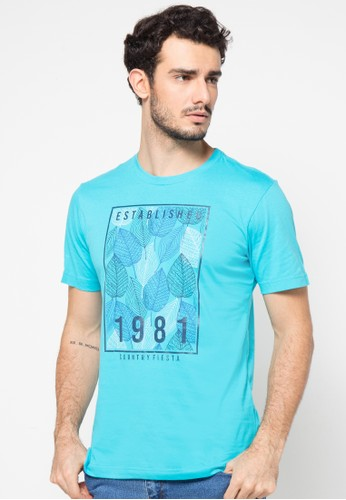 Country Fiesta blue Tshirt Short CO129AA71UDOID_1