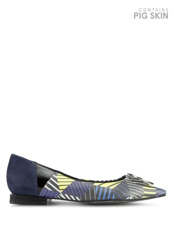 House of Avenues navy Color Block Flats 0F8F8SH4ED61D5GS_1